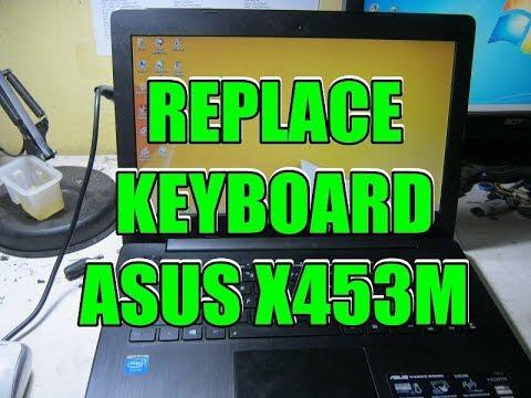 Replace Keyboard ASUS X453m