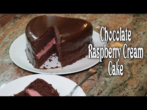 Chocolate Raspberry Cream Cake ~ Valentines Day Cake