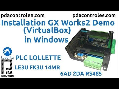 Installation Gx Works2 Demo for Programming PLC FK3U LE3U or FX1N
