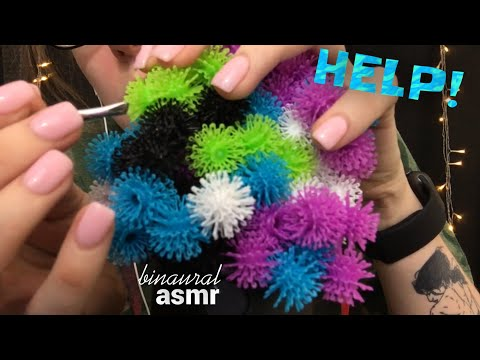 ASMR | HELP!! Binaural 🌀Crinkly Crunchy🌀Life Forms Are STUCK On My Mic!