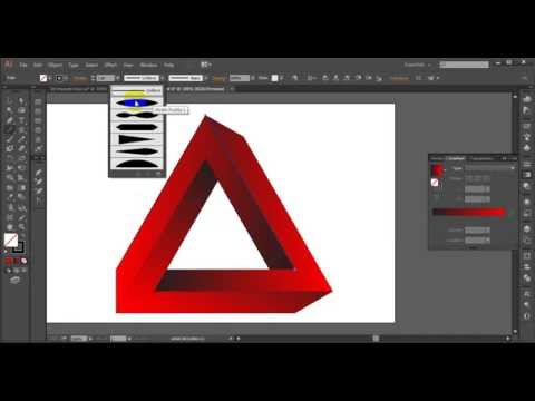 How to create 3d Triangle in illustrator