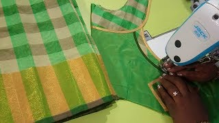 Cotton saree model blouse - Easy method