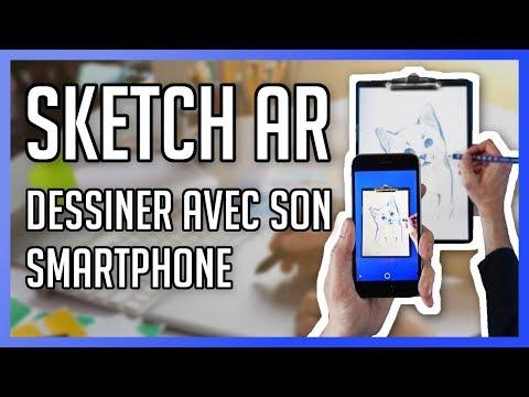 SketchAR : Dessiner en réalité augmenté avec son smartphone !