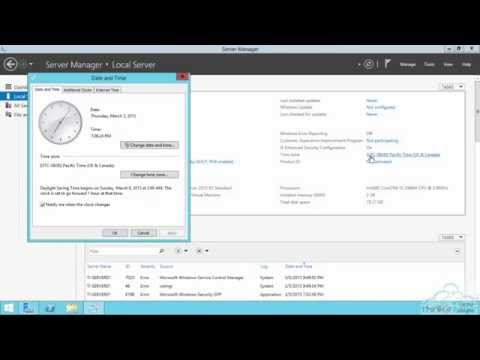 How to change the time zone in Windows Server 2012