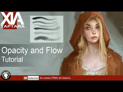 What opacity and flow to use in digital painting