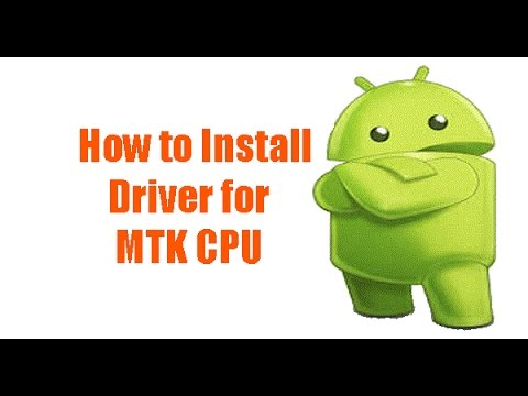 How to Install MTK Android USB Driver