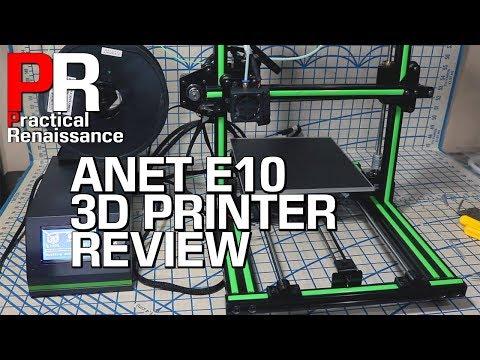 Anet E10 3D Printer Initial Impressions
