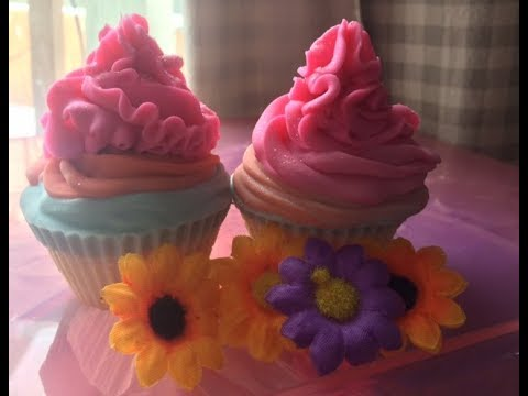Two cute soap cupcakes