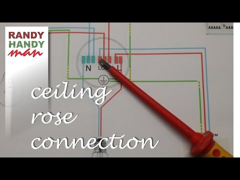 Ceiling rose light wiring explained video.How to connect light in a ceiling rose.