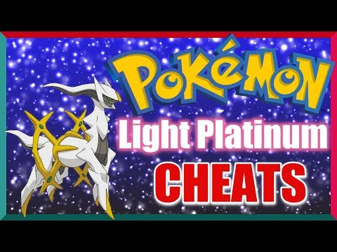 Pokemon Light Platinum Cheats for Master Ball, Legendary, Rare Candy, Master Ball, Shiny etc