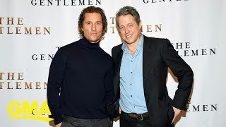 Matthew McConaughey sets up his mom with 'The Gentlemen' co-star, Hugh Grant's dad | GMA