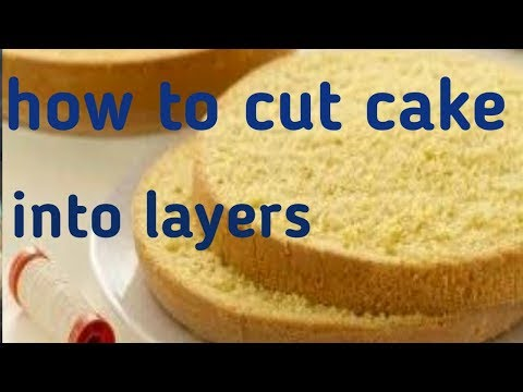 How to cut cake into perfect layers