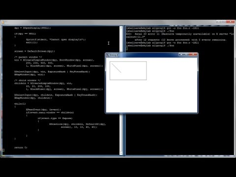 Xlib Programming in C and Linux Tutorial #02 - Creating Child Window