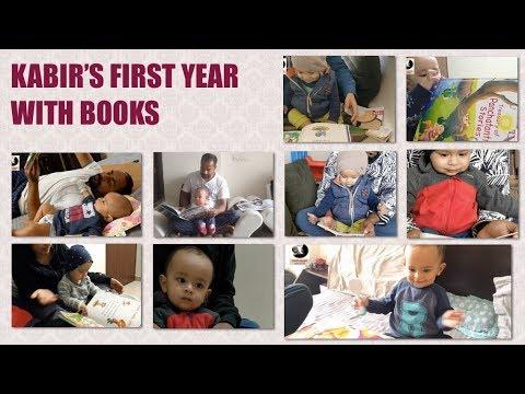 बच्चे का पहला साल बुक्स के साथ || BABY'S FIRST YEAR WITH BOOKS