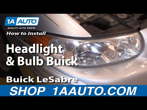 How To Install Replace Headlight and Bulb Buick LeSabre 00-05 1AAuto.com
