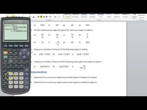 How to Find Radians on TI-83