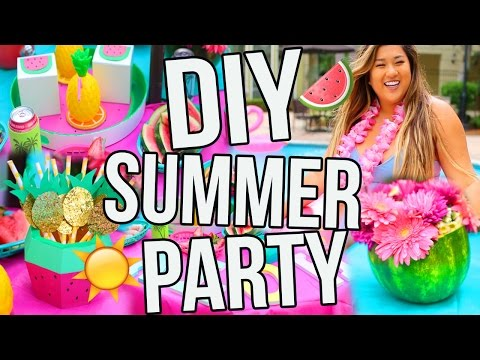 DIY SUMMER PARTY! Decor, Snacks, Treats & More!