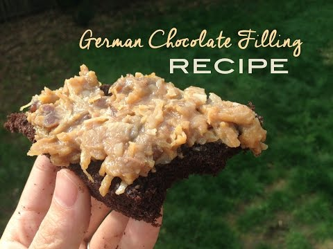 German Chocolate Filling Tutorial