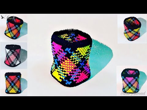 How to make 3d origami box 44
