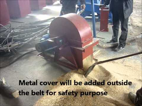 Electric Wood Chipper - Pre-equipment to make pellets or briquettes.