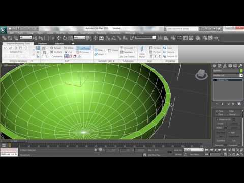 3ds max Modeling Tutorial: How to model plastic cup using Editable poly