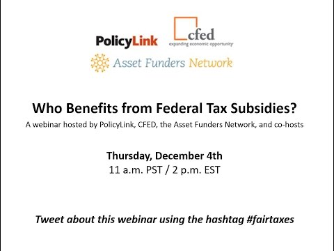 Who Benefits from Federal Tax Subsidies?