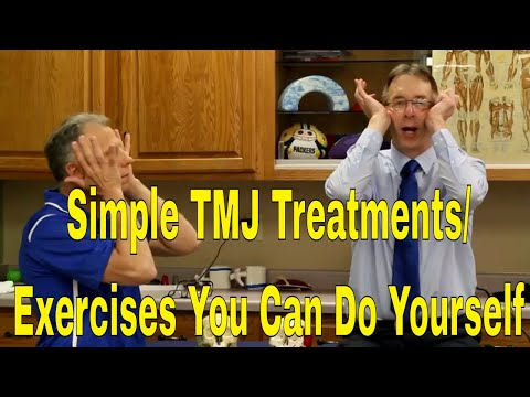 Simple TMJ Treatments/Exercises You Can Do Yourself To Stop Pain/Clicking In Jaw