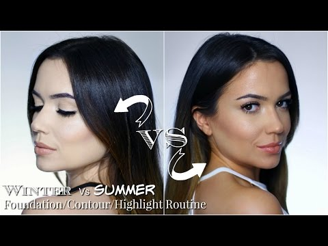 ME vs ME | My Pale Skin Foundation Routine Vs Tanned Foundation Routine