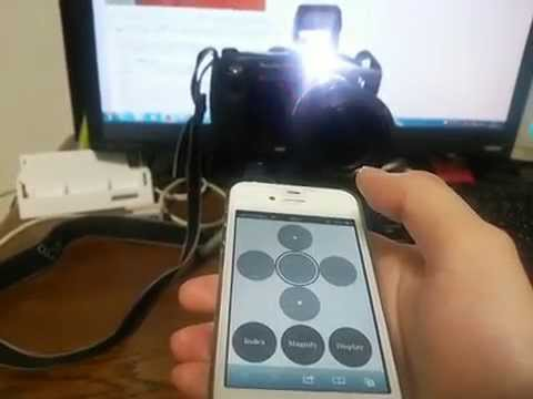 PowerShot Pro1 controled by iPhone 4S (HTML5 + JS + CSS3)
