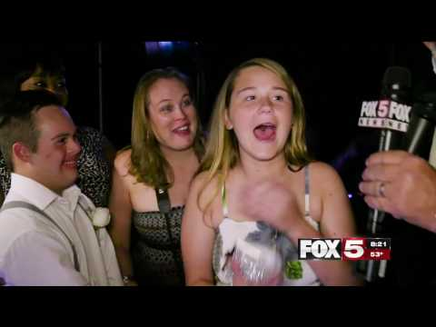 FOX5 Surprise Squad - Teen w Down Syndrome Rejected But Girl Steps Up - Both Get Huge Surprise!