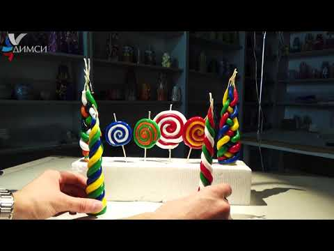 How to make decorative candles for any holiday with your own hands easily and simply!!!!