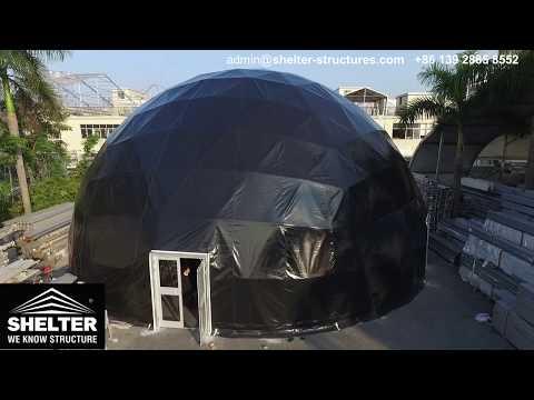 Diameter 18m Black Dome Tent - Custom Geodome Design