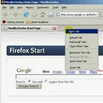 Mozilla Firefox 2 HowTo add Tab windows