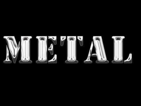 Photoshop tutorial-metallic text effect