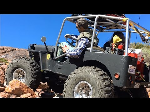rc Jeep 73 - scale trail & rock crawling - Quarry Hills - 1/6 Willys