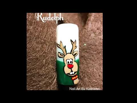 Christmas Nail Art Tutorial - Rudolph