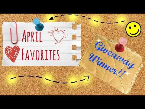 April Favorites + Giveaway Winner!   Nae and Nea
