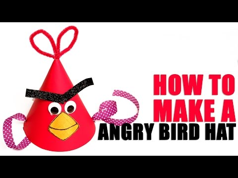 Angry Bird Hat |  Learn Art and Craft | DIY Angry Bird Hat | Kids Art and Craft