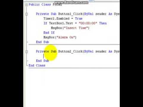visual basic 2008- Alarm Clock