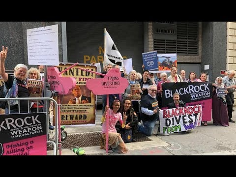 Peace Activists Call for Shadow Bank BlackRock to Divest from Military-Industrial Complex