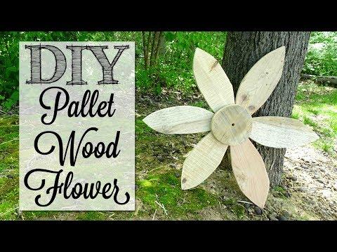DIY Pallet Wood Garden Flower