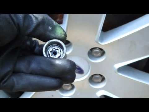 How locking bolt works in alloy wheel