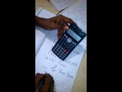 How to convert Polar form into rectangular form in calculator