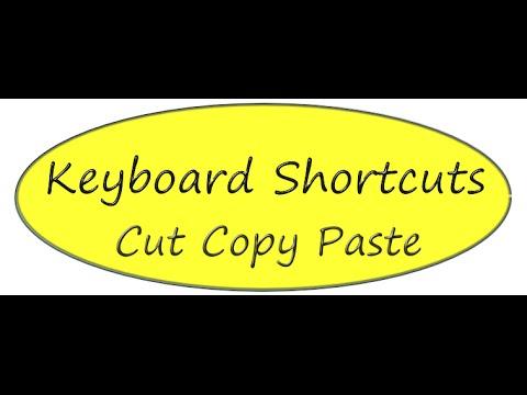 Computer Keyboard Shortcut for : Cut, Copy, Paste, Undo