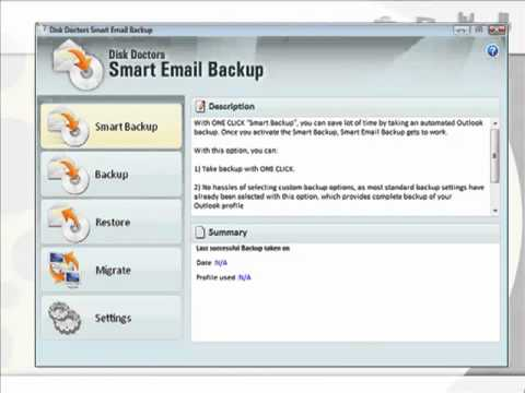 Backup your outlook data with Outlook Backup Software