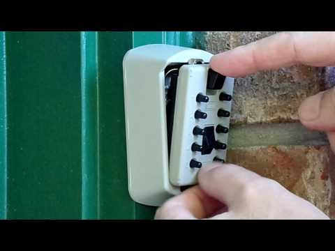 How To Open & Close a Wall Mounted Lockbox