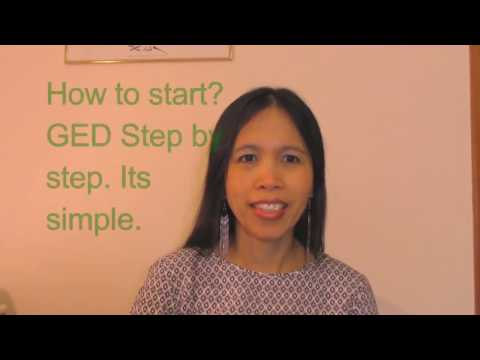 2017 GED, how to start, step by step.