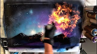 Shimmering Sky - Spray Paint Art By Skech