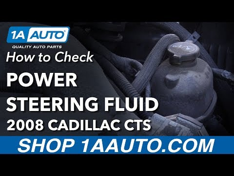 How to Check and Fill Power Steering Fluid 2008 Cadillac CTS
