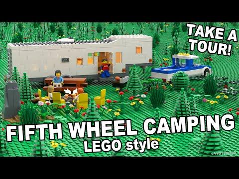 LEGO Fifth Wheel Campsite Custom Build MOC